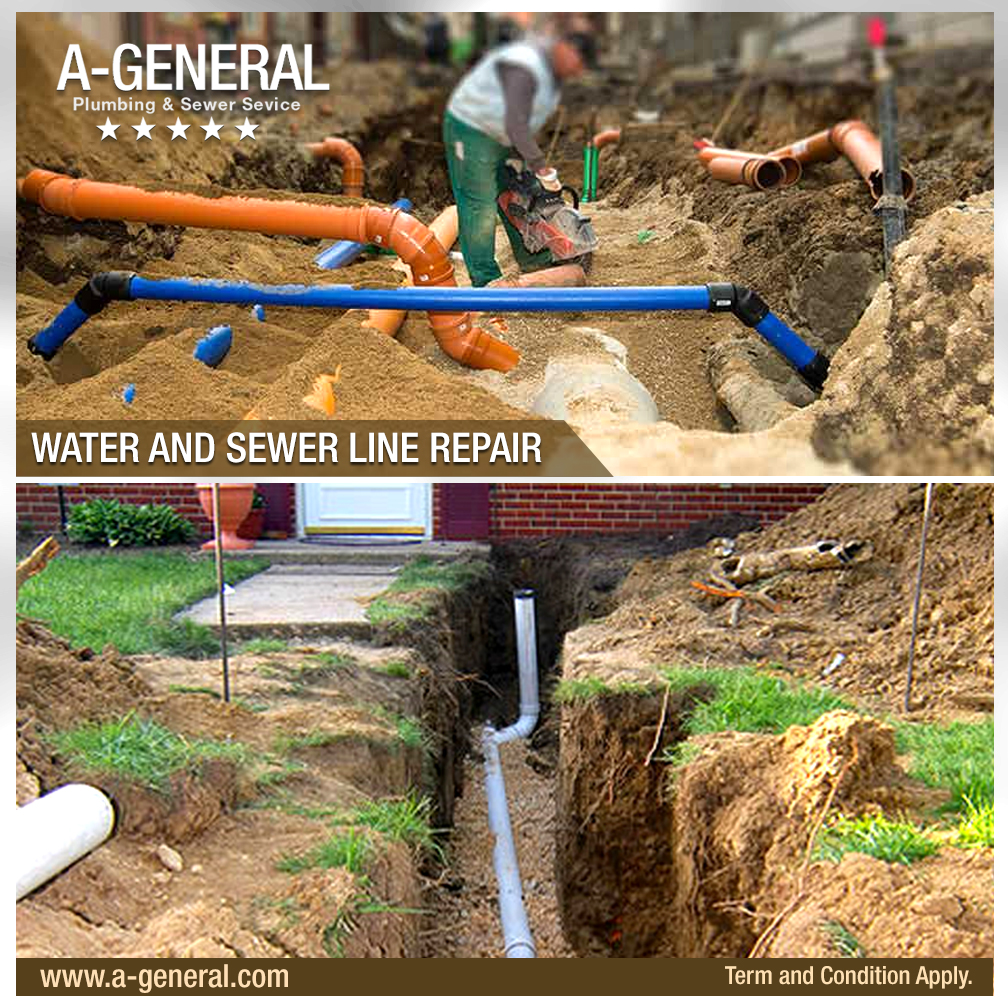 Why is it better to hire professional water and sewer line repair providers?