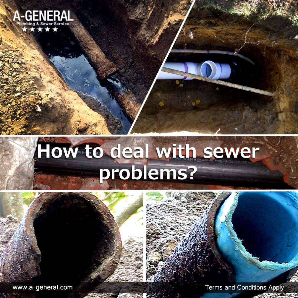 How to deal with sewer problems?
