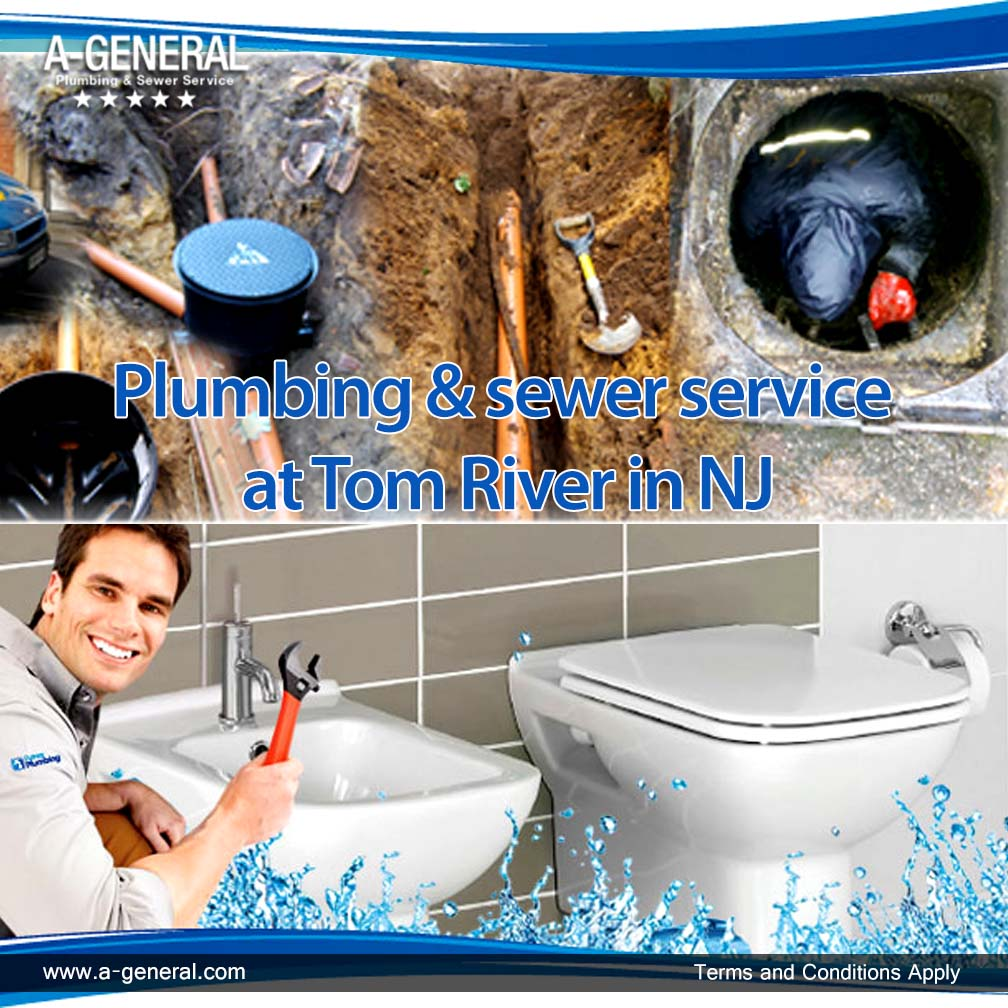 Plumbing & sewer service at Tom River in NJ
