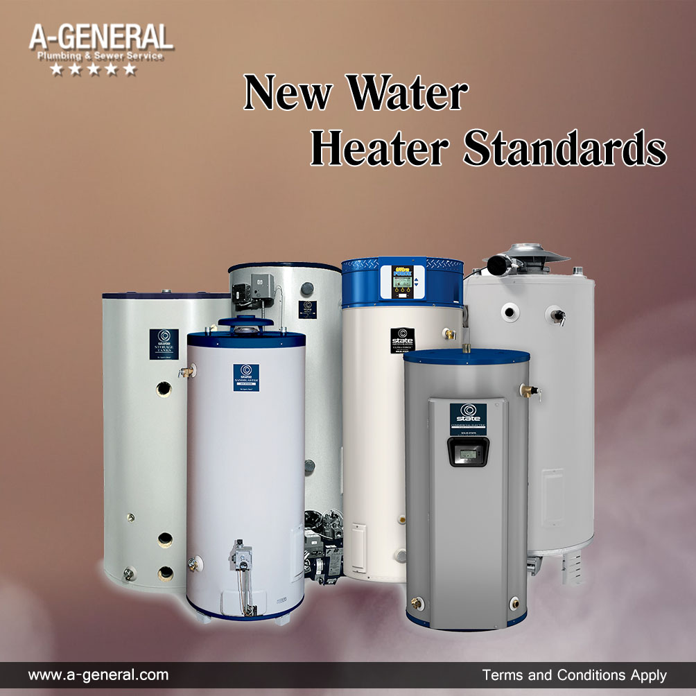 What are the New Water Heater Standards to be followed?