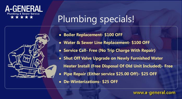 Plumbing specials!