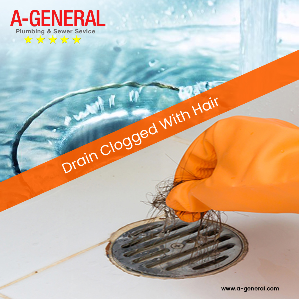 What Are The Solutions For A Drain Clogged With Hair?