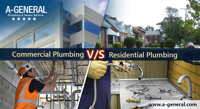 How is Commercial Plumbing Different from Residential Plumbing