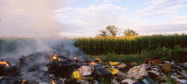Avoid open burning of garbage; it is much more harmful than you can imagine