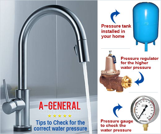 Tips to Check for the correct water pressure