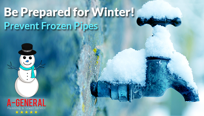 Be prepared for winter! Prevent Frozen pipes