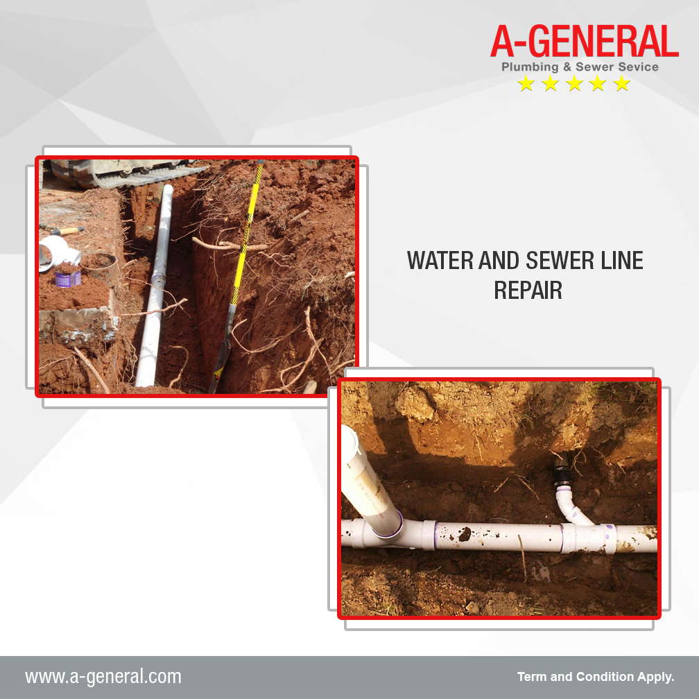 What precautions should you take for avoiding water and sewer line repair?