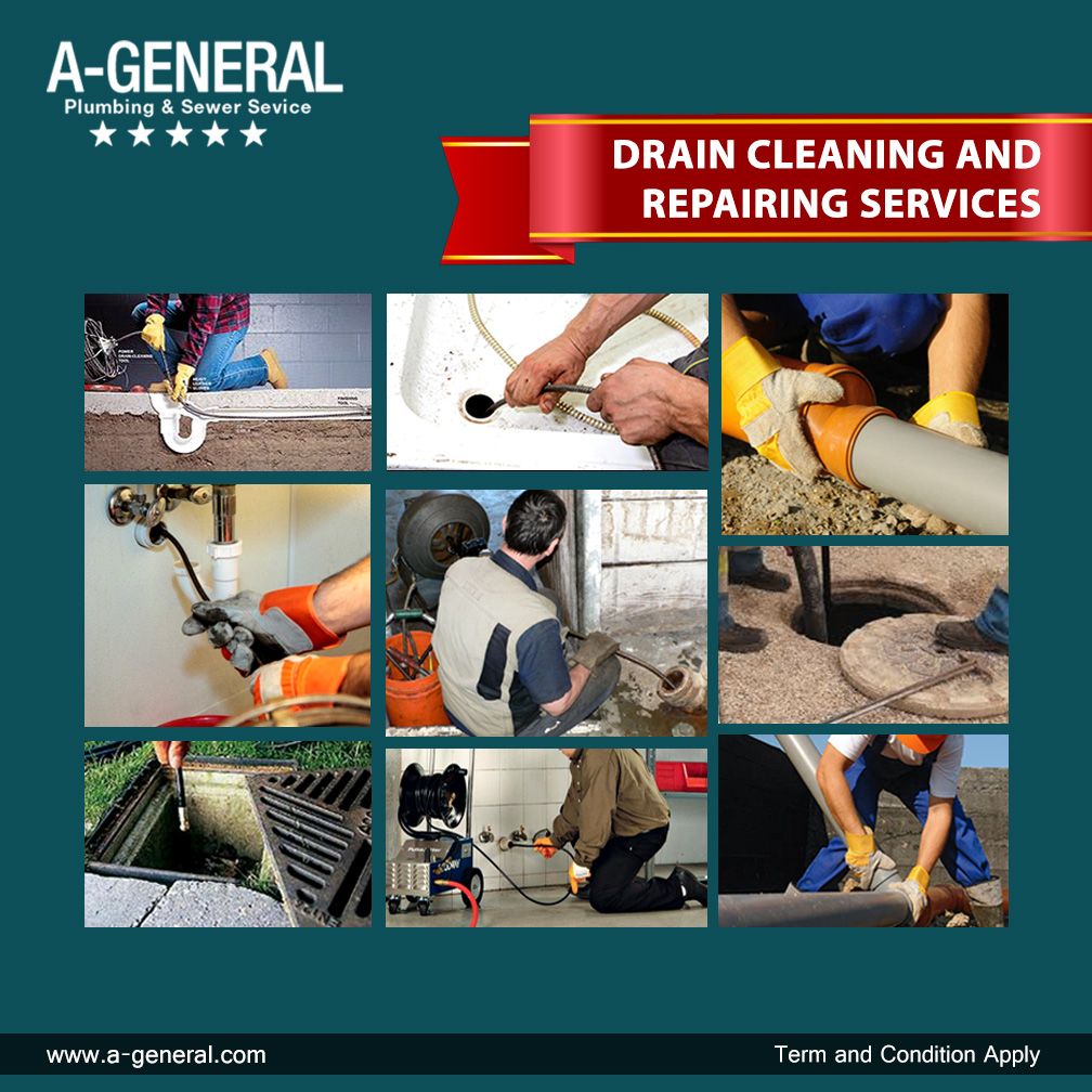 DRAIN CLEANING AND REPAIRING SERVICES