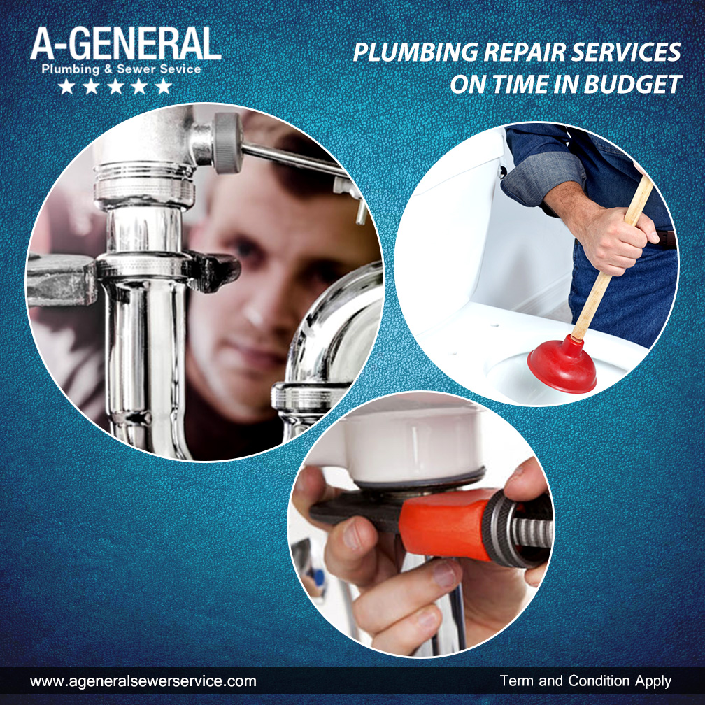PLUMBING REPAIR SERVICES ON TIME IN BUDGET