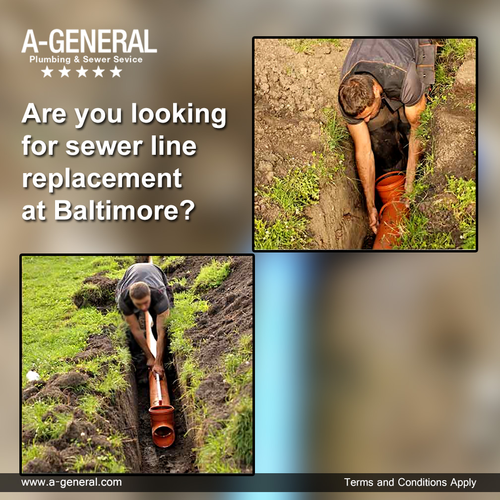 Are you looking for sewer line replacement at Baltimore?
