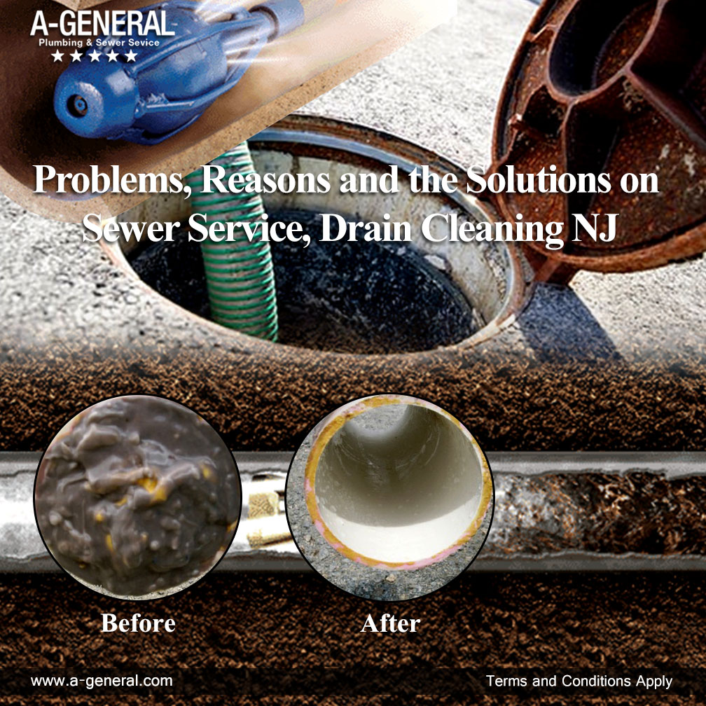 Problems, Reasons and the Solutions on Sewer Service, Drain Cleaning NJ