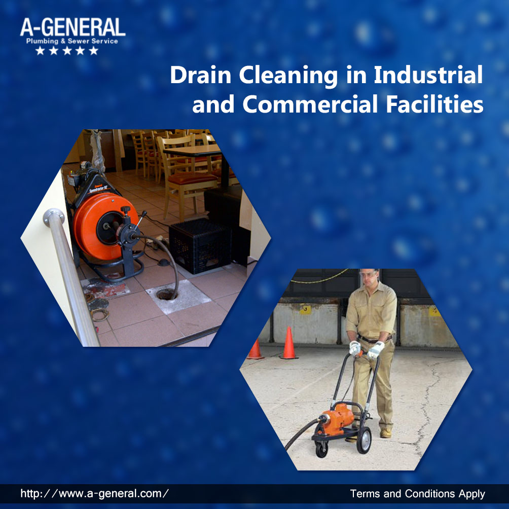 DRAIN CLEANING IN INDUSTRIAL AND COMMERCIAL FACILITIES