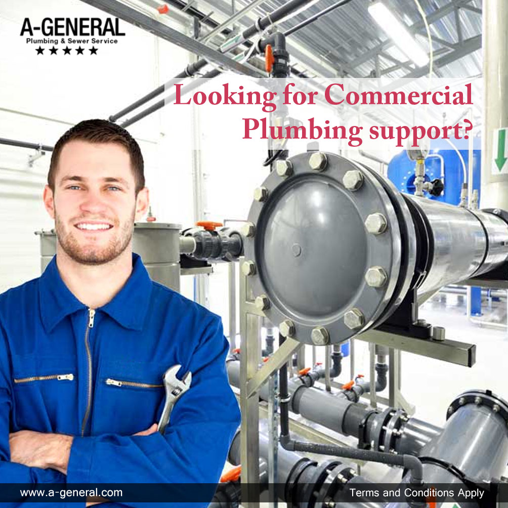 ARE YOU LOOKING FOR COMMERCIAL PLUMBING SUPPORT?