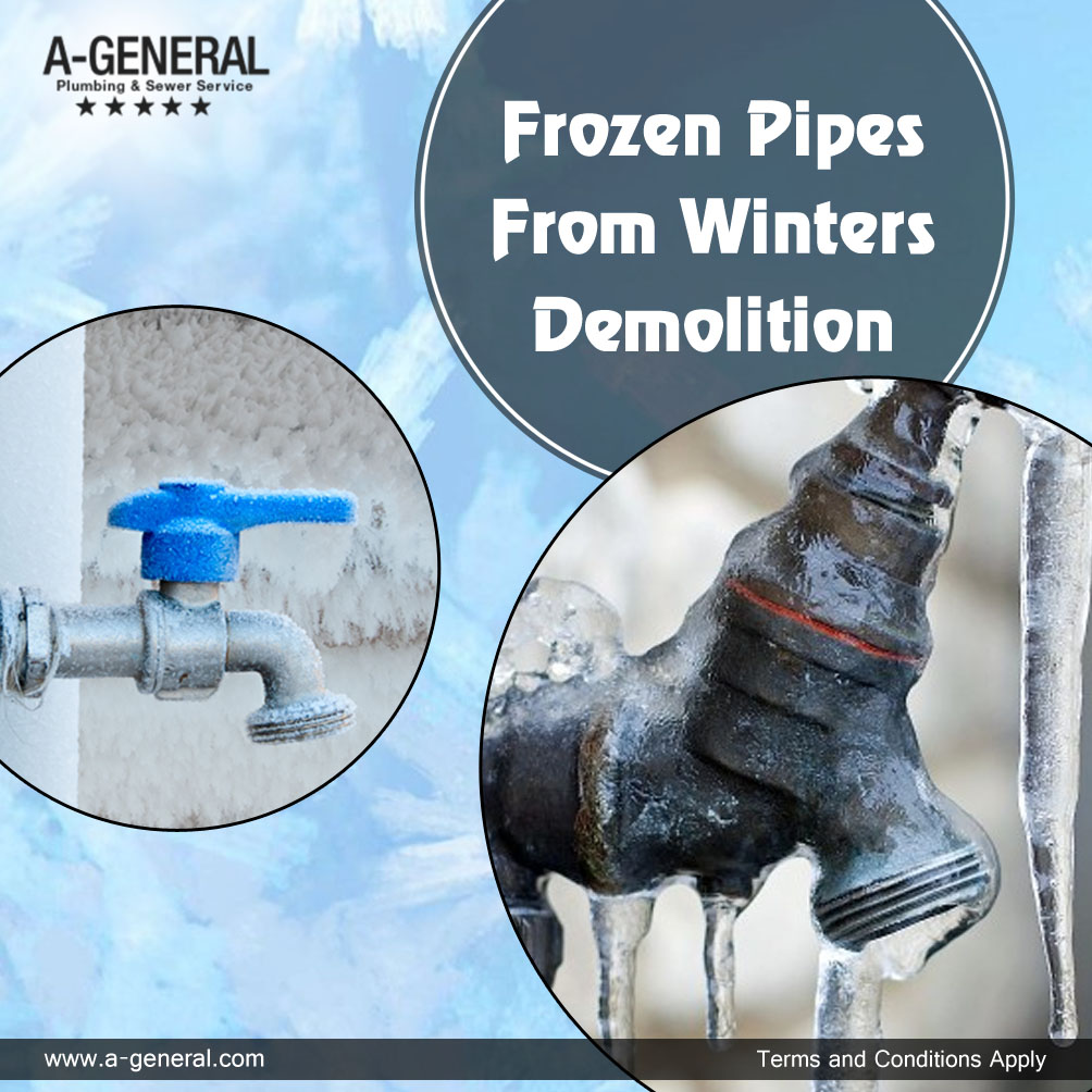 Keep A Check On Those Frozen Pipes From Winter's Demolition