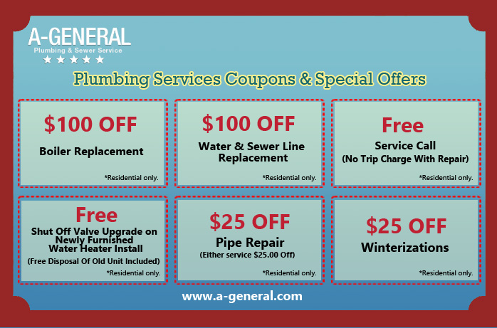 Plumbing Services Coupons And Special Offers