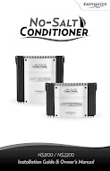 No-Salt Conditioner 1100-2200 - Manual