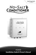 No-Salt Conditioner 3500 - Manual
