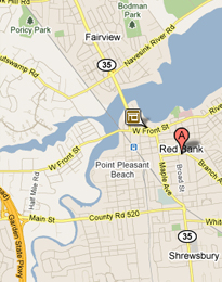 Red Bank NJ Location Map