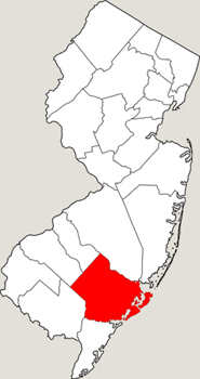Atlantic County Map