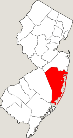 ocean county location map